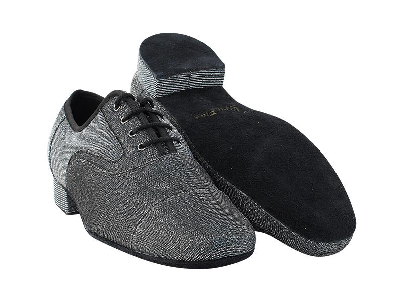 916102 105 Glitter Black Satin Whole Shoes