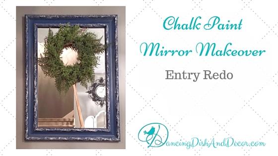 Chalk Paint Mirror Makeover