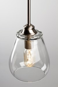 Pendant Light Fixture  Edison Bulb - Brushed Nickel ...