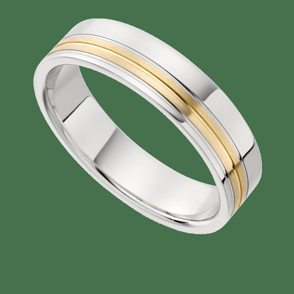 triad two tone wedding ring two tone wedding bands Triad Two Tone Wedding Ring