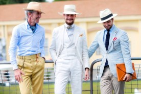 Street style, Guillaume Bo, Mickael-Francois Loir (brand: Le Loir en Papillon), and Guillaume Lancelot (brand: G. Lancelot) at Pitti Uomo 90 held at Fortaleza Da Basso, in Florence, Italy, on June 15th, 2016. Photo by Marie-Paola BERTRAND-HILLION / ABACAPRESS.COM