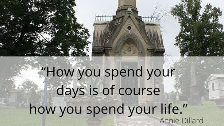 """How you spend your days is of course how you spend your life"" Danette Layne Blog"