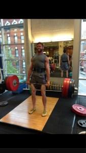 Hugh Jackman lifting weights