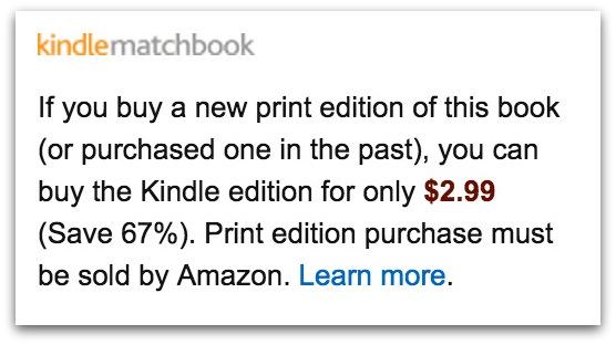 Kindle matchbook Amazon bundling.52 PM