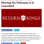 Roosh V Return of Kings Meet-ups Cancelled (We Have it Coming)