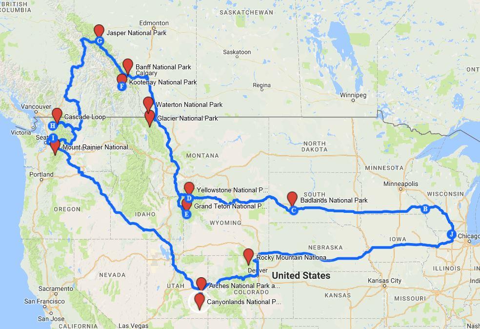 national-park-road-trip-map