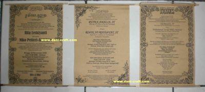 Contoh Contoh Undangan Pernikahan Bagian Depan