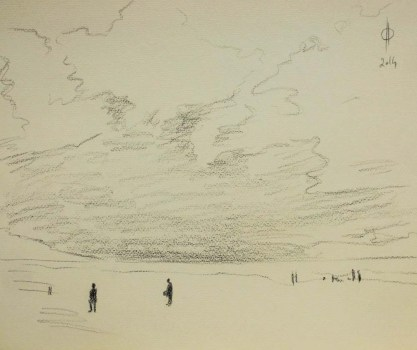 Sky 16 - pencil on paper, 25x30.5 cm, 2014