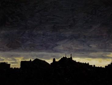 Contre-jour XVIII (Black Sky) - oil on linen, 65x81,5cm, 2011