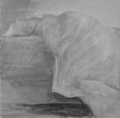 White Shades XII - acrylic on cardboard, 40x40cm, 2018