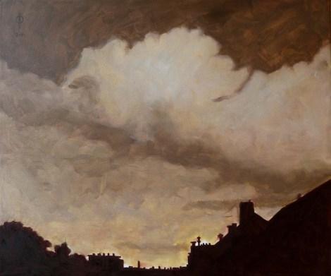 Ter Streep- East End V, oil on canvas, 50x60cm, 2014