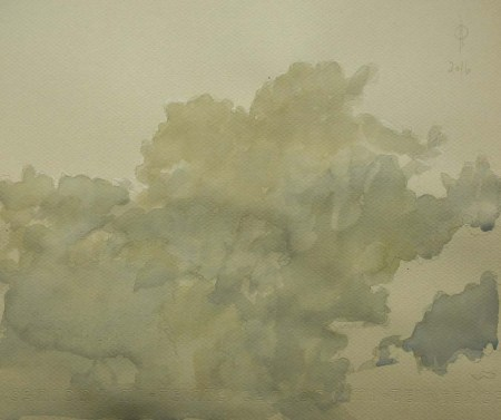 Sky 70 - watercolour on paper, 23.7x28.1cm, 2016