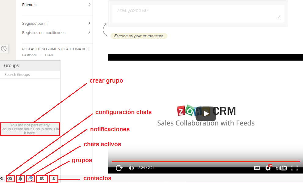 Crear grupos en el CRM Zoho