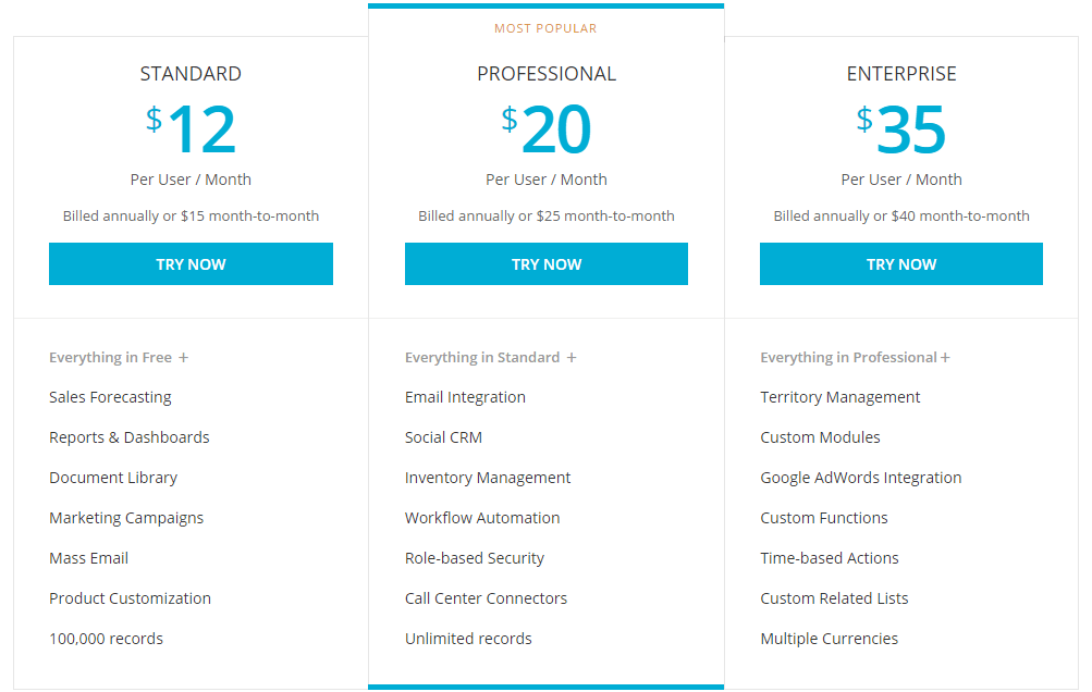 Zoho Pricing