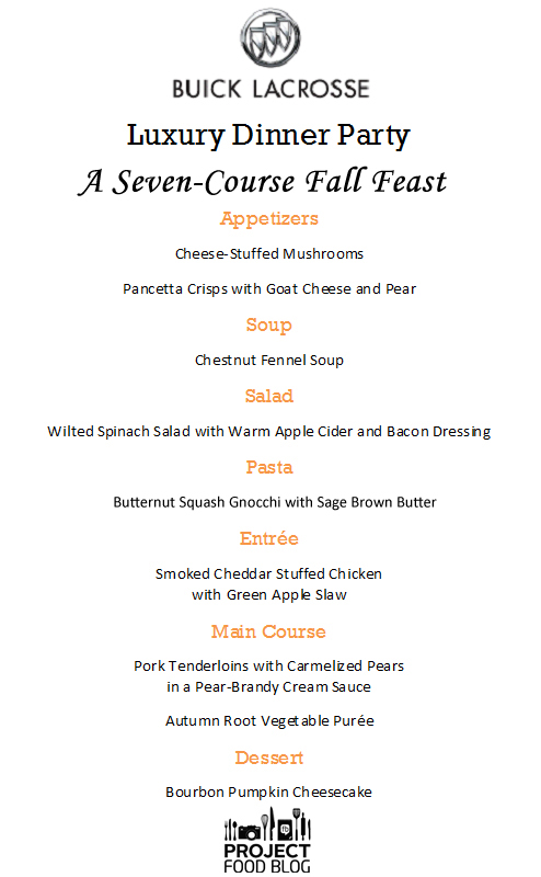 Runs With Spatulas How to Host a Seven-Course Dinner Party - restaurant menu project examples