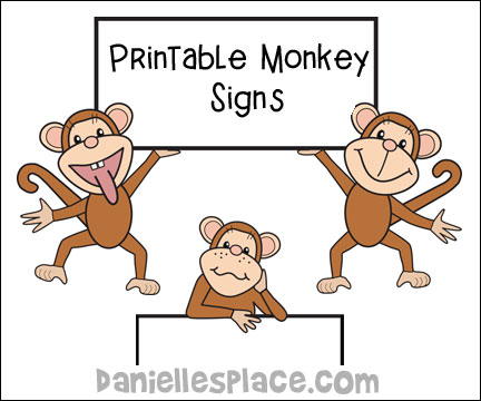 Monkey Theme Crafts and Learning Activities for Kids