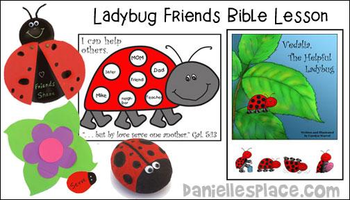 Free Sunday School Lesson for Children - Ladybug Friends