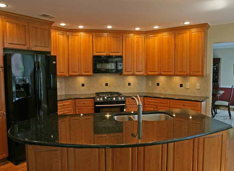 kitchen cabinets with brown floor tile 2015