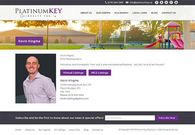 Danipa - Danipa develops website for New Real Estate Brokerage in