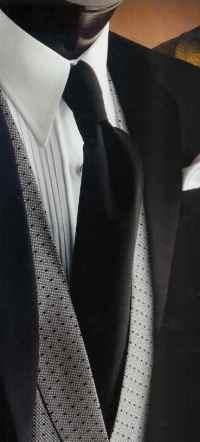 Gitman Formal Wear Tuxedo Solid Satin Neck Ties from Dann ...