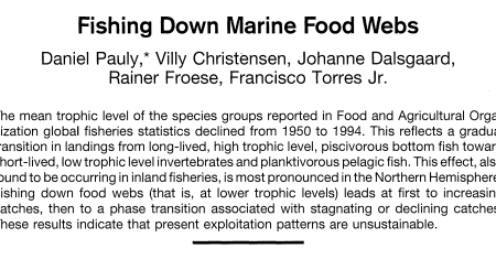 Fishing Down Marine Food Webs (Science, 1998)