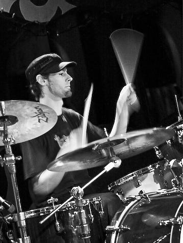 Dan_drumming_BW