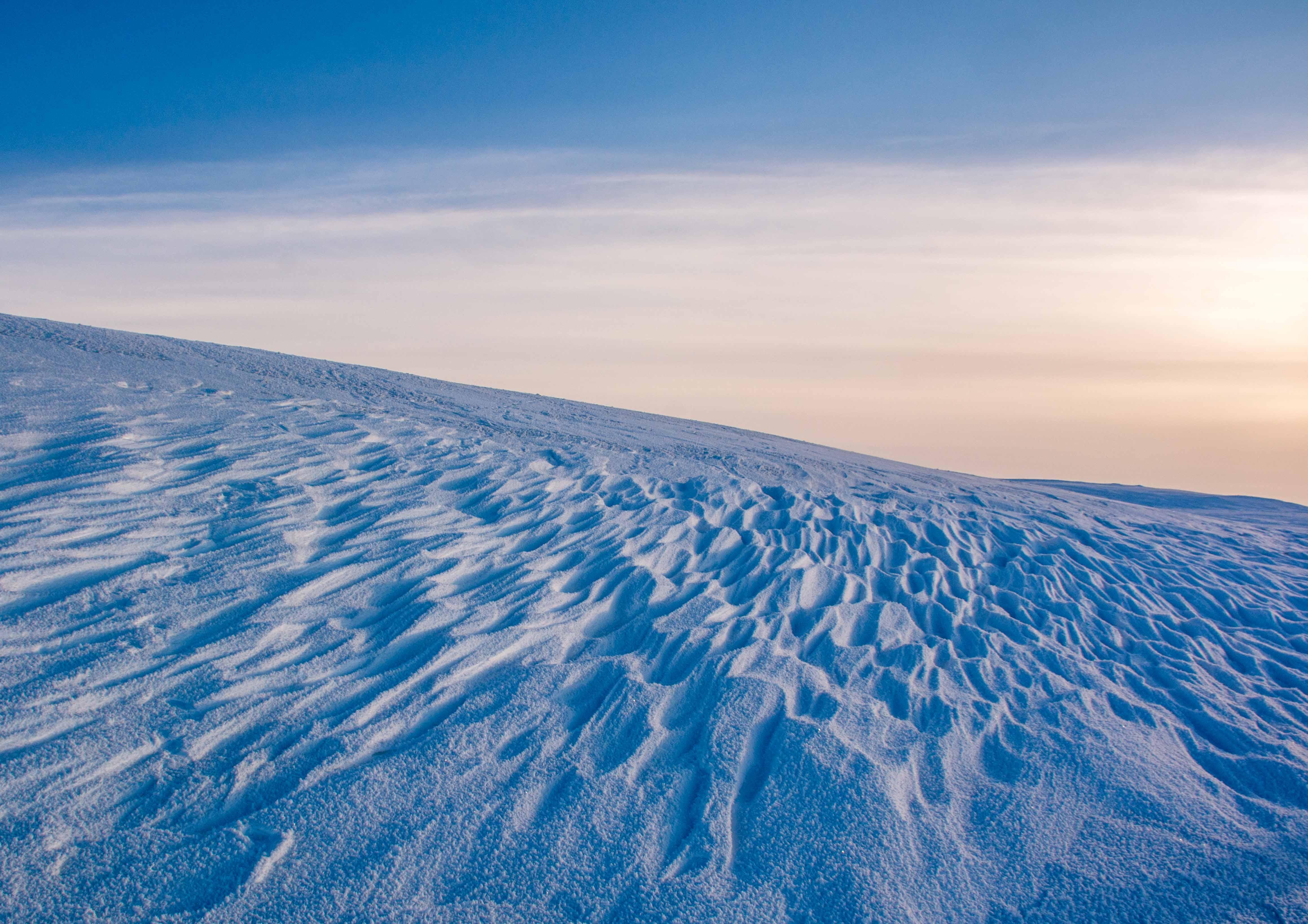 Wind swept snow
