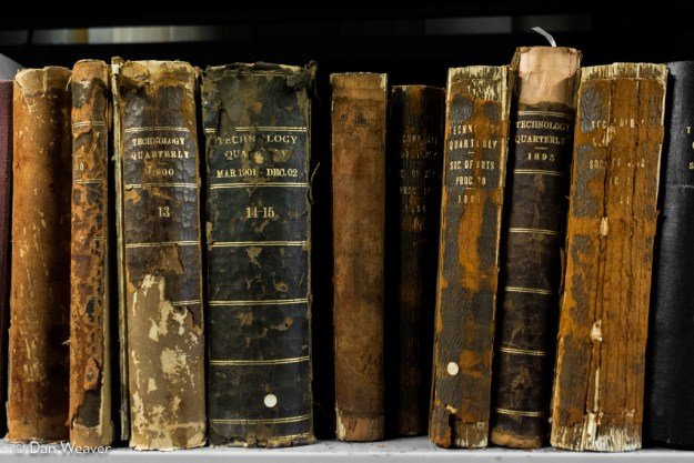 Century-old books about technology at U of T science library