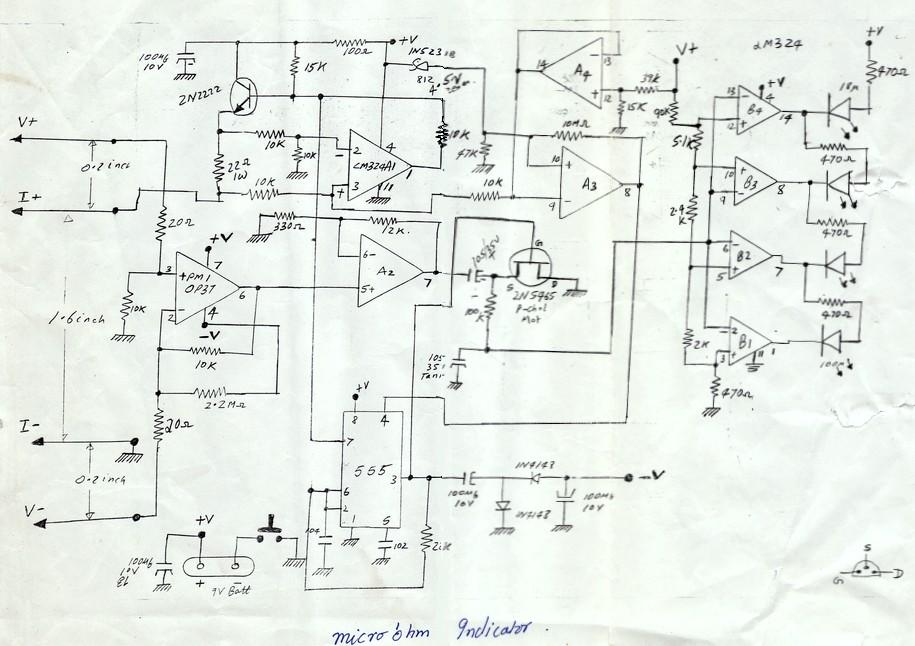 micro ohm meter schematic diagrams circuits