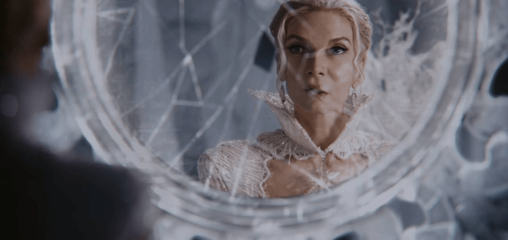 snow queen with mirror