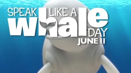 Speak like a whale day