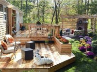 Create a beautiful look of house backyard with unique ...