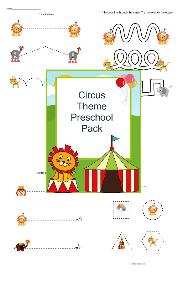 Step Right Up! Fun Preschool Circus Printables for Free