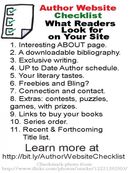 Author Website Tech Checklist #1 Fiction Notes