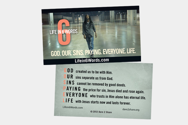 Life in 6 Words Cards - Dare 2 Share
