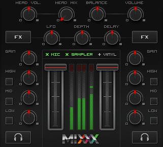 Sezione Mixer Mixxx