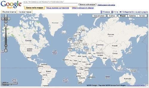 Googlemaps e il mondo vero \u2013 dariopulciniit - cartina mondo