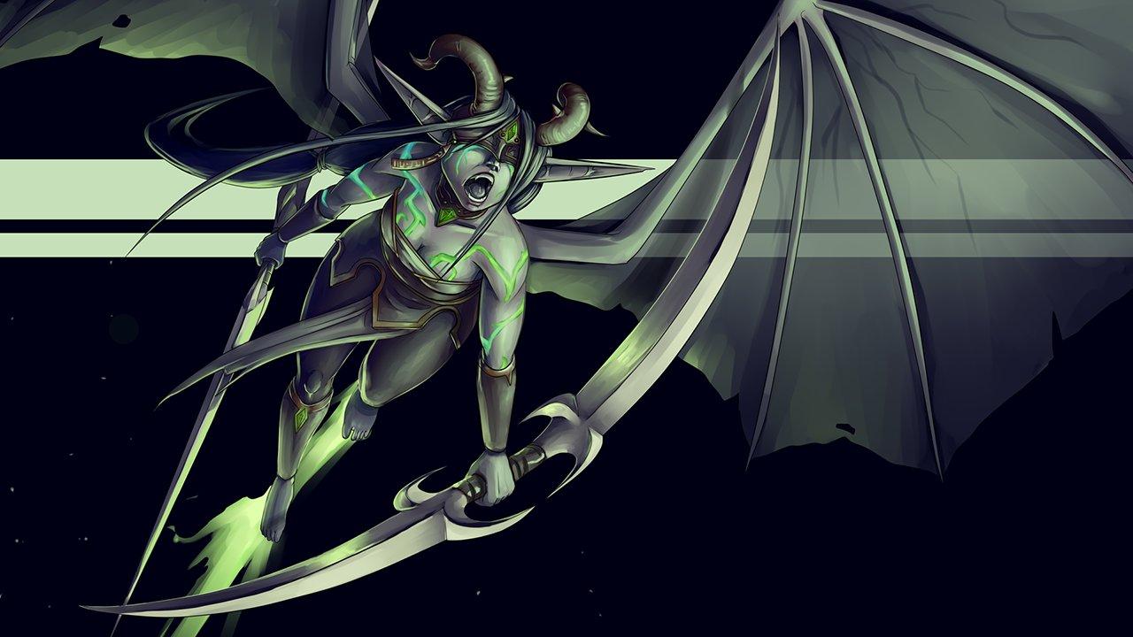 Female Demon Hunter by FireCatRich