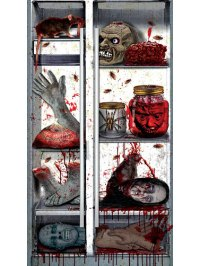 Creepy Kitchen Refrigerator Door Decoration, Scary