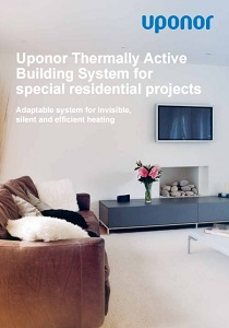 Uponor termally active building system for special residential projects