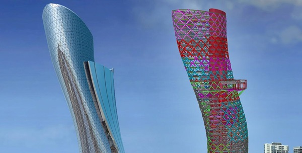 Capital Gate Tower Tekla BIM