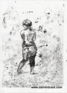 nude female monoprint