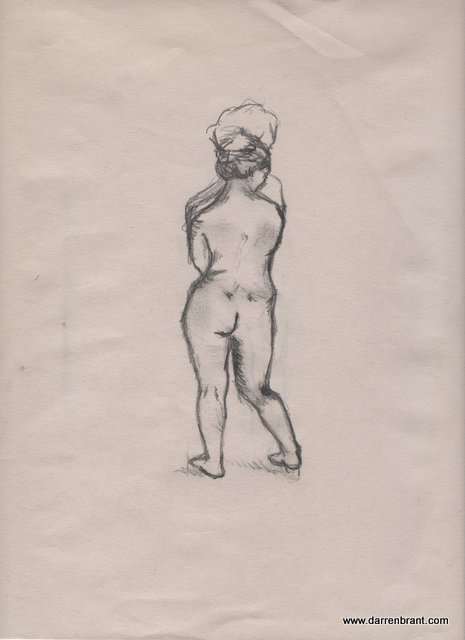 nude female sketch 2013-04-30