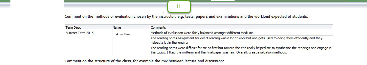 Course Assessment Student View Course Report - assessment report format