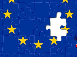 Jigsaw puzzle showing United Kingdom is a part of the European Union