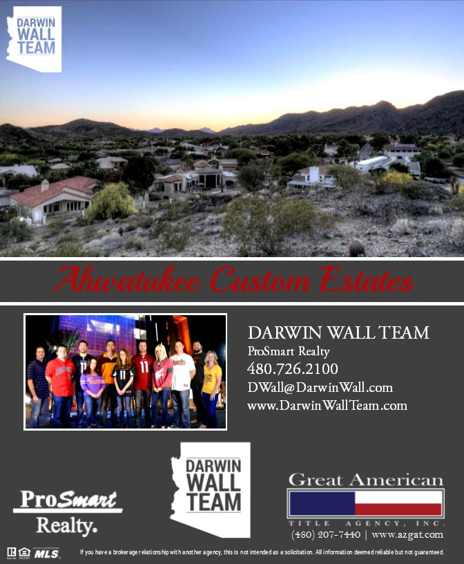 Ahwatukee Land for Sale - Darwin Wall Team - land for sale flyer