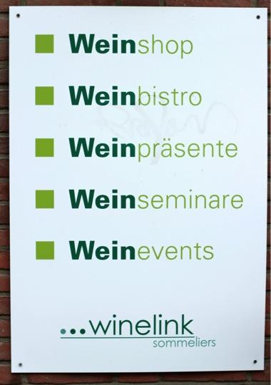 Winelink-Plakat