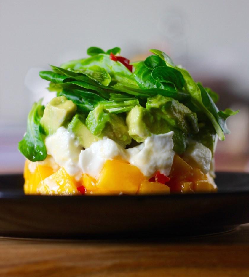 Avocado-Mango-Tartar mit Büffelmozzarella