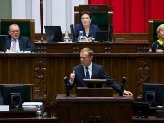 Minsterpräsident Donald Tusk im Sejm, Fot. M. ?miarowski/KPRM CC BY-NC-ND 2.0