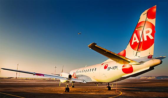 SAAB 340A fliegt nach Olsztyn-Mazury